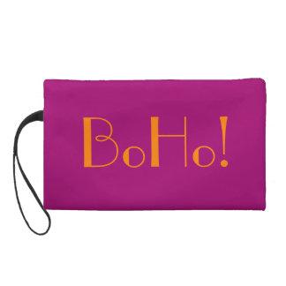 BoHo Flirt Pink Bagettes Bag Wristlet Clutch