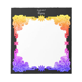 Boho Floral Bohemian Bold Colourful Drawn Tapestry Notepads