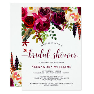 Boho Floral | Bridal Shower Invitation