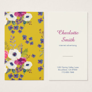 Boho Floral Business Card