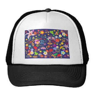 Boho floral cap