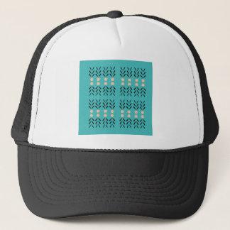 BOHO FOLK BLUE ORNAMENTS CAP