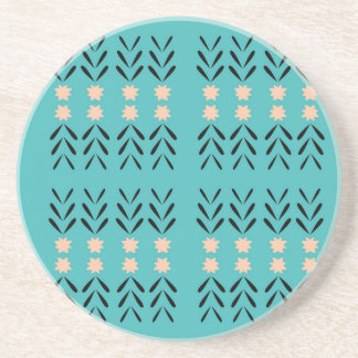 BOHO FOLK BLUE ORNAMENTS COASTER