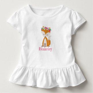 Boho Fox Personalized Toddler Shirt