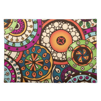 Boho Funky Trendy Retro Abstract Pattern Placemat