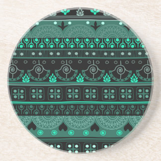 Boho Geometric Pattern Drink Coasters