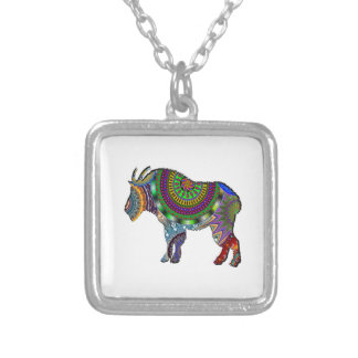 BOHO GOAT SILVER PLATED NECKLACE