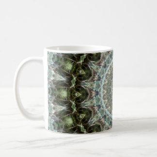 Boho Green and Aqua Mandala Coffee Mug