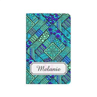 Boho Green blue abstract tribal pattern Journal