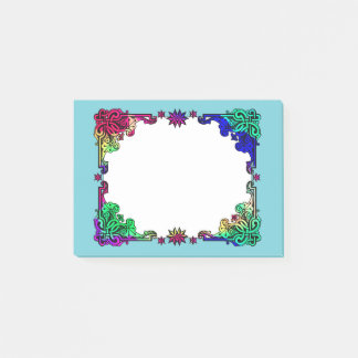 Boho Gypsy Floral Bohemian Colorful Folk Art Post-it Notes
