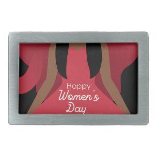 boho international womens day belt buckle