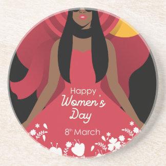 boho international womens day coaster
