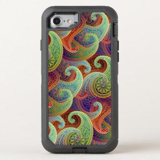 Boho Jewel-Tone Paisley Damask OtterBox Defender iPhone 8/7 Case