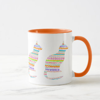 Boho Kitty Mug By Megaflora