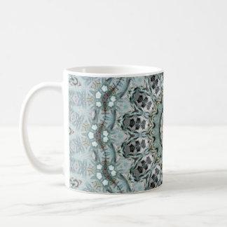 Boho Light Turquoise and Gray Mandala Coffee Mug