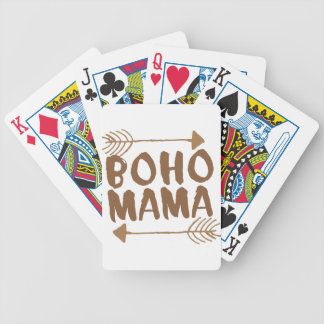 boho mama bicycle playing cards