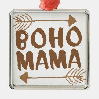 boho mama metal ornament