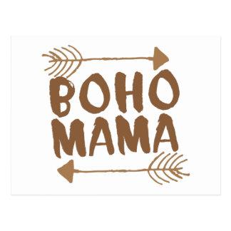 boho mama postcard