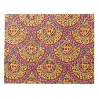 Boho mandala abstract pattern design notepad