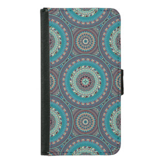 Boho mandala abstract pattern design samsung galaxy s5 wallet case