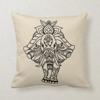 Boho Mandela Elephant Cushion