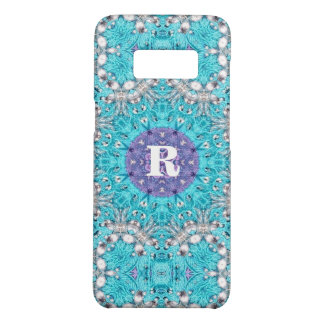 Boho Moroccan Embroidery turquoise blue bohemian Case-Mate Samsung Galaxy S8 Case