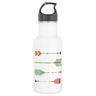 Boho Multi-Colored Arrows Design on Water Bottle