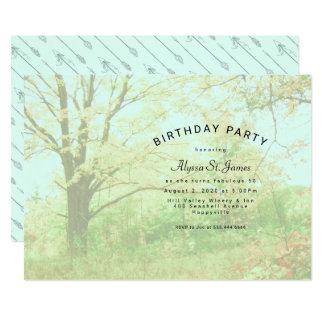 Boho Nature Lover Birthday Party Invitation