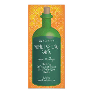 Boho Orange Wine Tasting Party Card