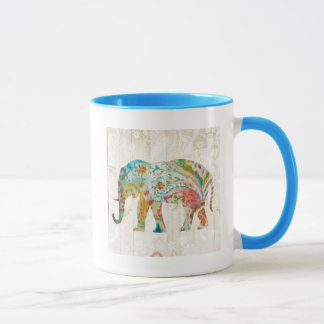 Boho Paisley Elephant II Mug