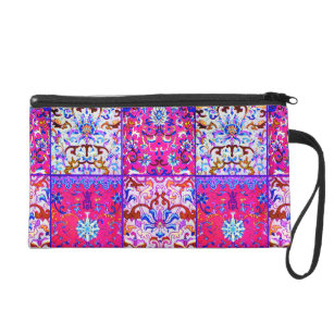 Boho Patches Wristlet Purse