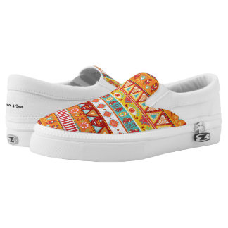 Boho Pattern 3 ~ Slip On Sneakers