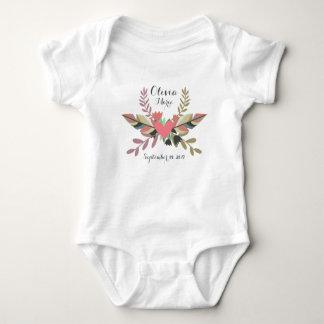 Boho Personalized Newborn Announcement   Bodysuit