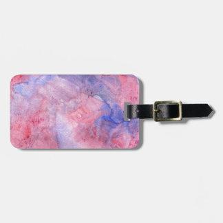 Boho Pink and Purple Watercolor Bag Tag
