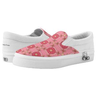Boho Pink Pattern ~ Slip On Sneakers
