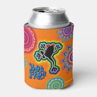 Boho psychedelic frog can cooler