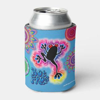Boho psychedelic hot frog can cooler