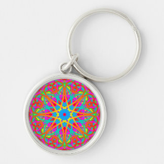 Boho Radiant in Red Colorful Keychain Gift Idea