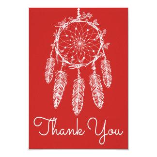 Boho Red Thank You Dream Catcher Native American Card