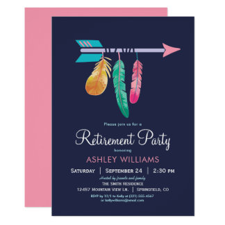 Boho Retirement Party Invitation