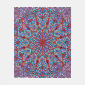 Boho-romantic colored mandala ornament arabesque fleece blanket