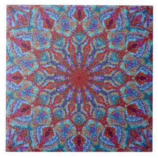 Boho-romantic colored mandala ornament arabesque tile