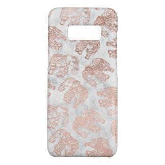 Boho rose gold paisley elephants white marble Case-Mate samsung galaxy s8 case