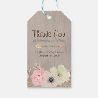 Boho Rustic Baby or Bridal Shower Favor Tag