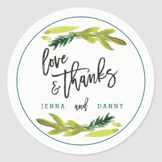 Boho Rustic Floral Wedding Sticker
