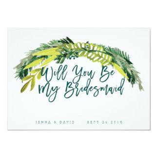 Boho Rustic Will You Be My Bridesmaid 13 Cm X 18 Cm Invitation Card