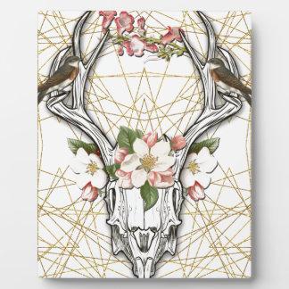 Boho Skull Plaque