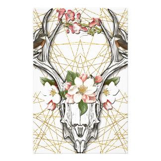 Boho Skull Stationery