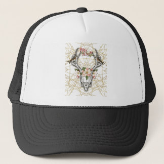 Boho Skull Trucker Hat