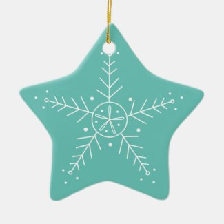 Boho Snowflake Personalised Christmas Ornament